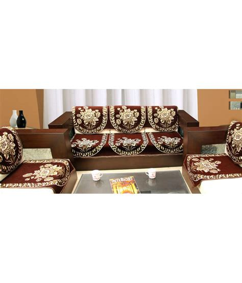 couch cover set blue eyes attractive jacquard weaved sofa cover set for 5