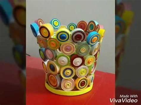 paper quilling vase tutorial how to make a flower vase with paper quilling paper made