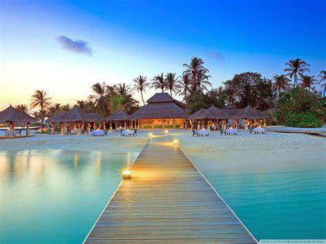 maldive islands resort  hd desktop wallpaper