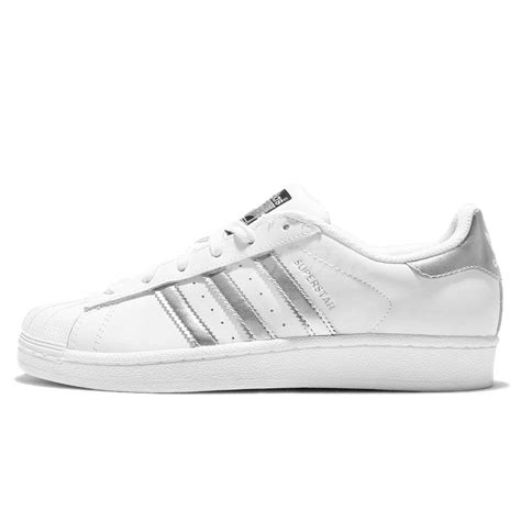 adidas originals superstar white silver womens classic shoes sneakers aq3091 ebay