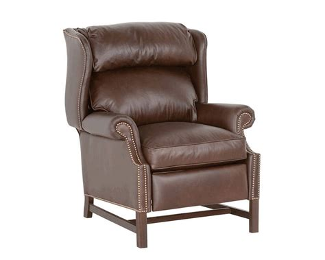 Classic Leather Recliner by Chippendale Leather Recliner 759 Classic Chippendale Recliner