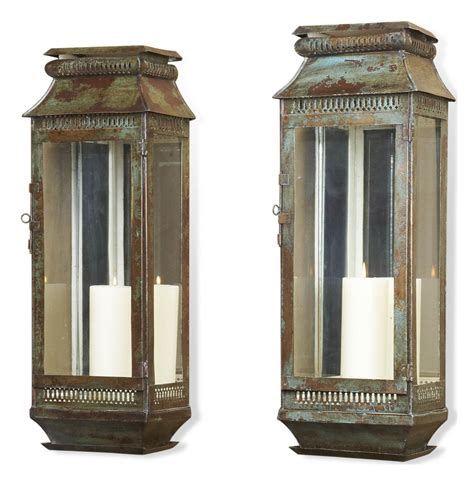 Rustic Lantern Wall Sconce Modena Moroccan Rustic Pair Wall Sconce Lanterns Kathy Kuo Home