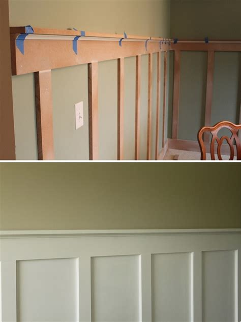 House Simple a less expensive way to have chair rail wainscoting diy