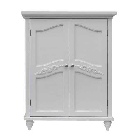 freestanding linen cabinet with her shop elegant home fashions versailles 27 in w x 34 in h x