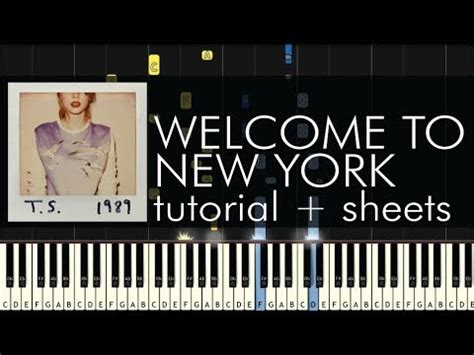 tutorial piano new york taylor swift welcome to new york piano tutorial