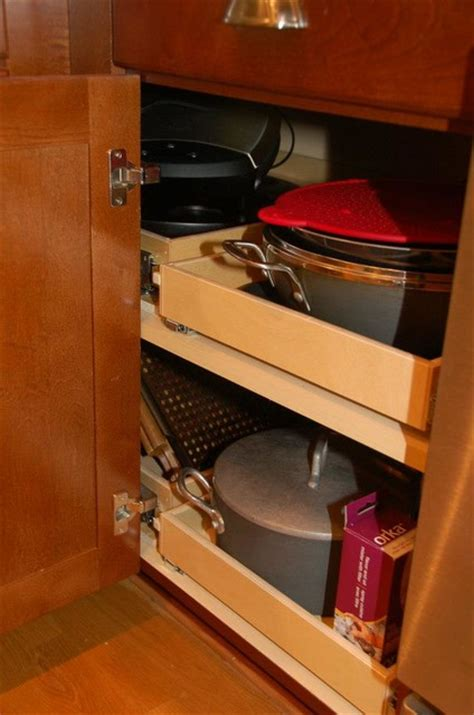 blind corner solution cabinet and drawer organizers