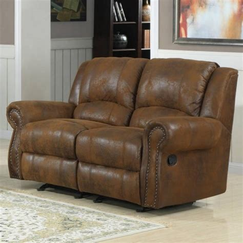 quinn bomber jacket microfiber metal double rocker recliner loveseat  classy home