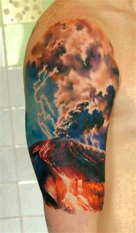 lightning storm tattoos designs volcanic lightning sleeve den yakovlev of moscow