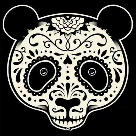 panda tattoo skull sugar skull panda graphics and illustrations for dayz