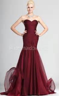 burgundy chiffon trumpet mermaid off the shoulder