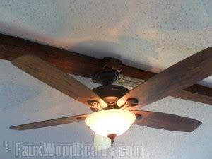Ceiling Fan Beam Mount by Installing Ceiling Beams Faux Wood Workshop