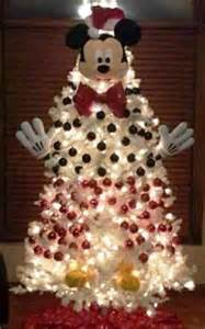 christmas tree decorating idea mickey mouse on white tree