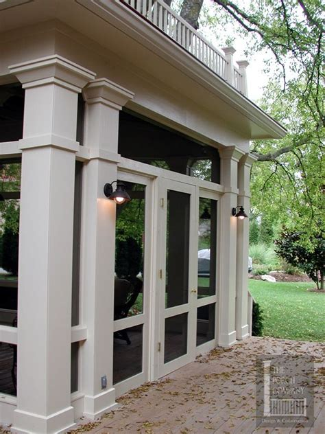 How To Screen In A Porch With Columns havens south designs the lights on columns of this nashville screened porch with