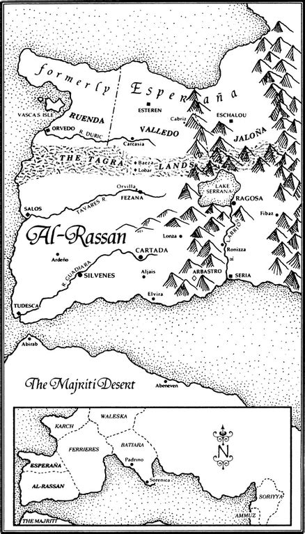 The Lions of Al-Rassan Map : guygavrielkay