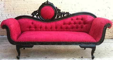 french chaise lounge sofa red black french chaise lounge sofa
