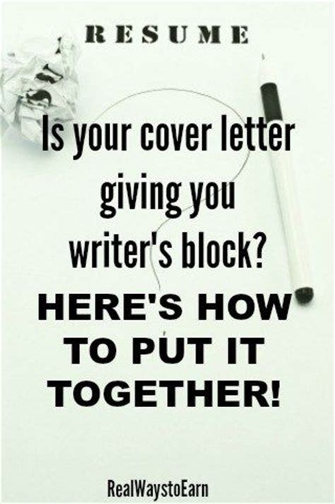 cover letters writer s block and letters on pinterest