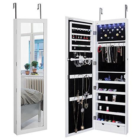 Door Mounted Jewelry Armoire by Songmics Lockable Jewelry Cabinet Wall Door Mounted