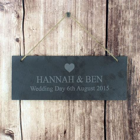 Personalised Slate Door Plaque   Heart Design   Find Me A Gift