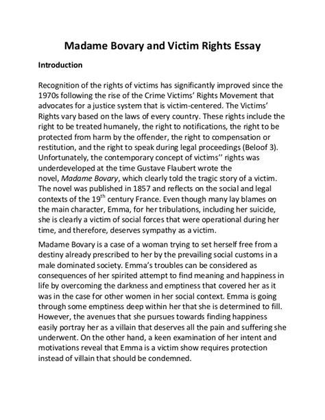 Madame Bovary Essay by Madame Bovary Essays