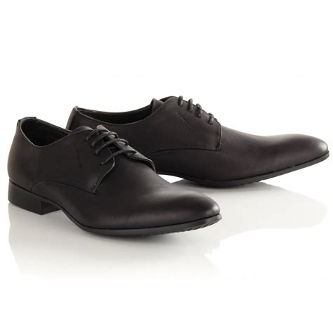 mens black smart formal shoes