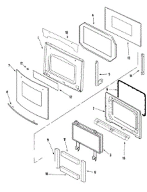 Parts For Jenn Air Jmw8527daw Oven Appliancepartspros Com Jenn Air Oven Door Glass Replacement