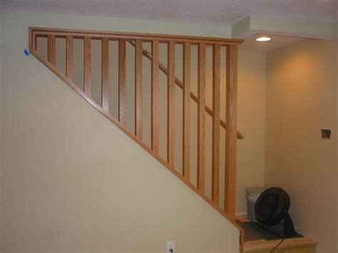 removable banister a removable stairway wall and railing makes moving