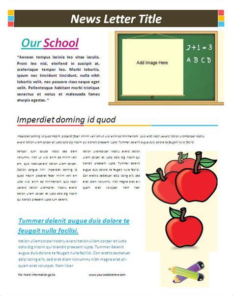 newsletter free templates on microsoft word school newsletter templates bravebtr
