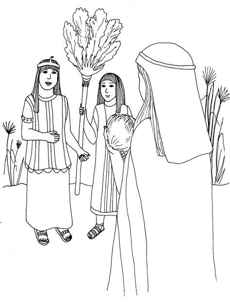 Coloriage sur le thême de Moïse - AdventLife
