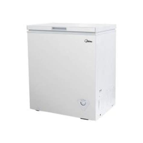 midea 5 0 cu ft chest freezer in white whs185c1 the
