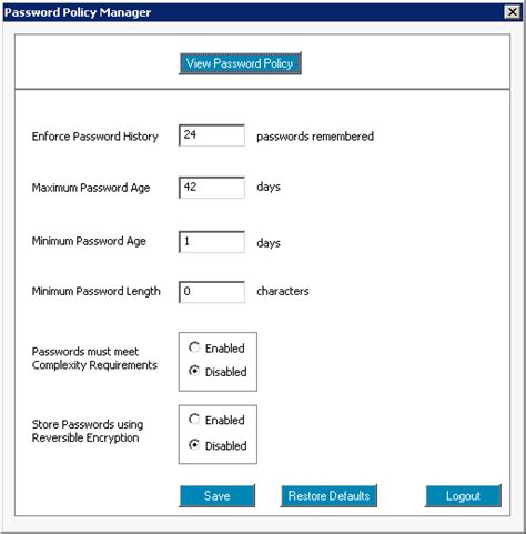 tool reset ad password password policy management free tool active directory