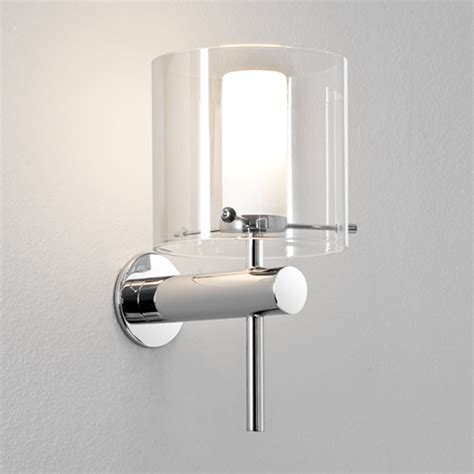 bathroom tube lights astro tube led ip44 bathroom wall light polished chrome