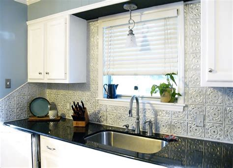 Metal Tiles For Kitchen Backsplash tin backsplash kitchen backsplashes contemporary