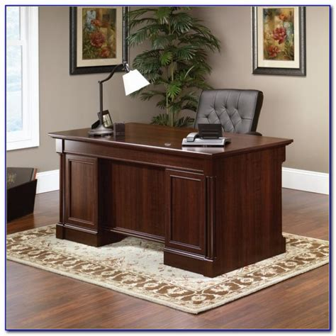 sauder palladia executive desk in vintage oak sauder palladia select cherry computer desk desk home
