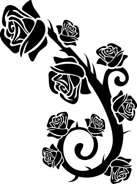 Roses Branch Ornament Svg Png Icon Free Download (#39479
