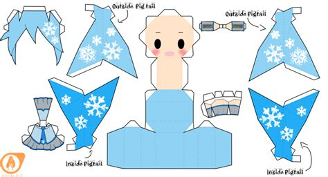 Hatsune Miku Papercraft - 2010 snow miku hatsune by piercepapercraft on deviantart