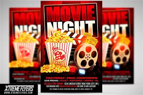 Movie Flyer Template flyer template flyer templates creative market