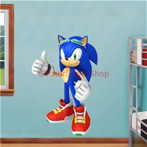 sonic wall stickers sonic riders the hedgehog decal removable wall sticker home decor ebay
