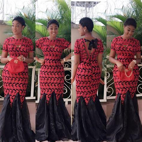 Wst 10880 Lace Chain Waist Dress aso ebi styles 2015 ft ankara and lace