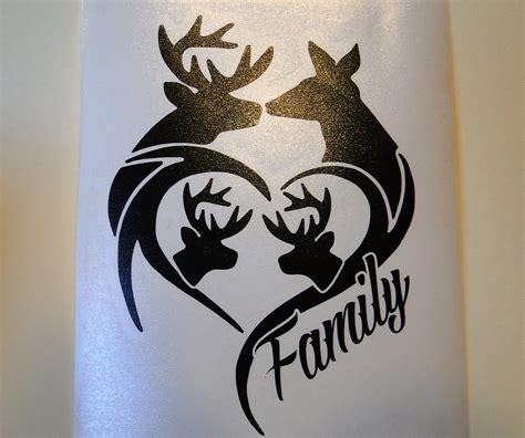hunting truck decals deer family for car truck window etc outdoor sign vinyl