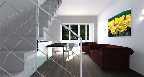 scale soggiorno soggiorno con scala interiordesign rendering soggiorno