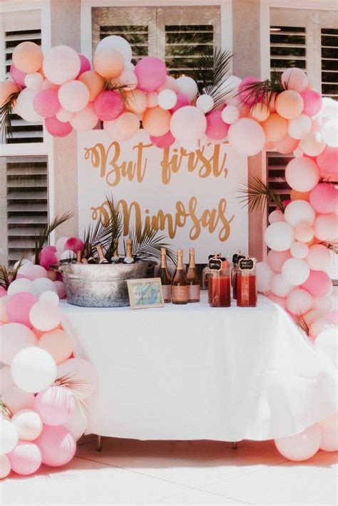 bridal shower bachelorette themes mimosa bar entertaining bar calligraphy