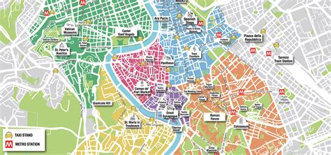 rome map tourist attractions rome tourist map free roma
