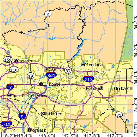 azusa zip code map azusa california ca population data races housing