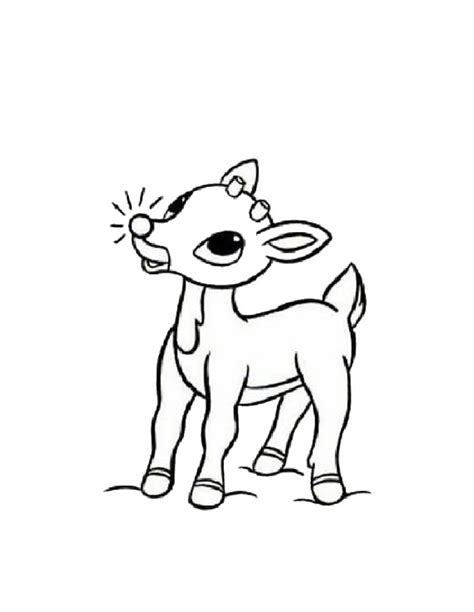 coloring page rudolph free printable reindeer coloring pages for kids