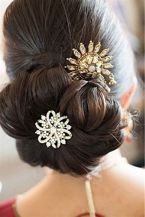 Wedding Hair Buns Images by Indian Bridal Bun Hairstyles Indian Tips
