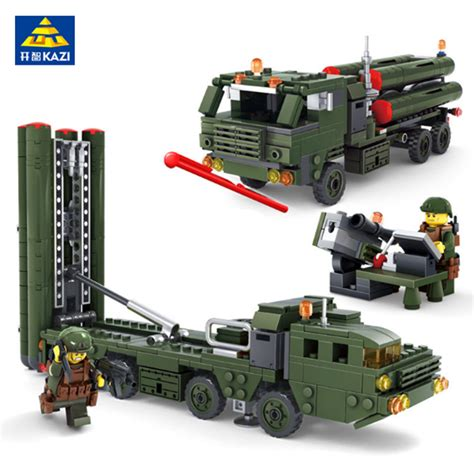 Emco Brick Army Missile Truck kazi war building blocks field army vehicle diy construction bricks compatible with