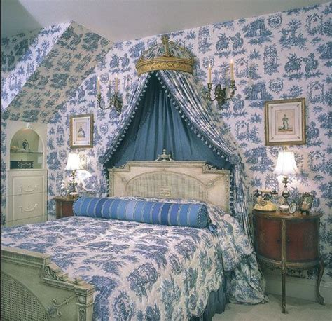 toile bedroom toile fabric interior country bedrooms to love pinterest toile blue green bedrooms and