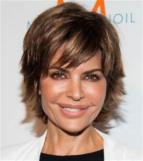 short razor cut hairstyles for women over 50 short haircuts for older women lisa rinna 5 celebrity