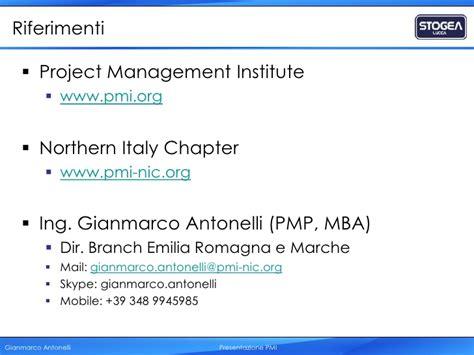 Una Mba Project Management by 00 Presentazione Pmi