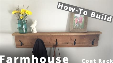 build  farmhouse coat rack diy project